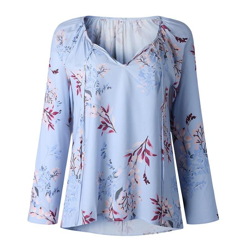Autumn Casual Shirt Women Clothes Streetwear Fashion Print Drawstring V-Neck Long Sleeve Sexy Ladies Tops Vetement Femme 2018 (19)
