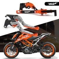 For KTM Duke 125 200 390 Duke200 Duke390 Motorcycle CNC Billet Aluminum Folding Extendable Brake Clutch Levers With LOGO (DUKE)