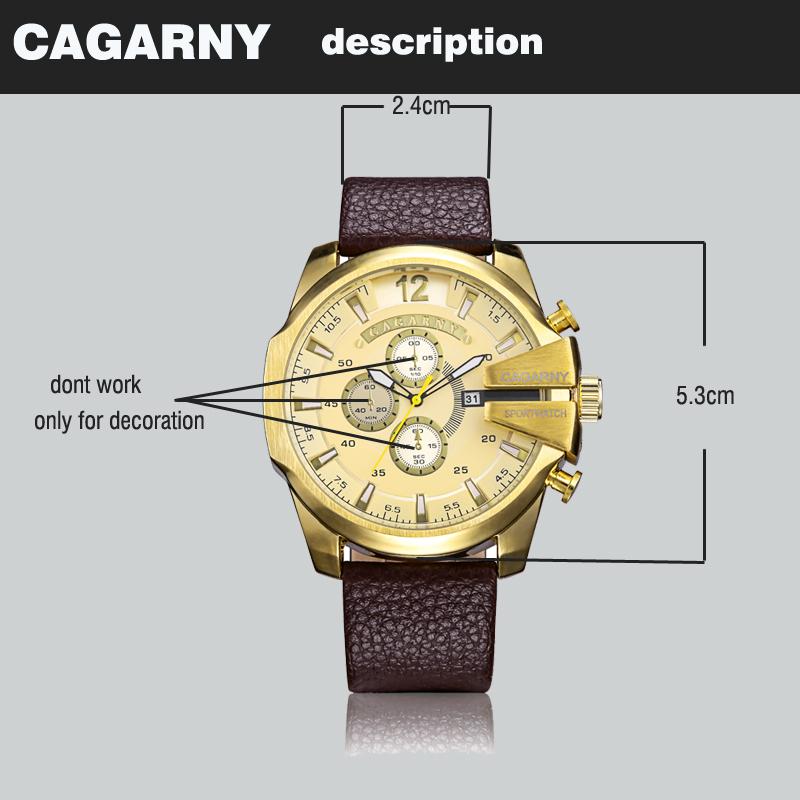 cagarny dz style quartz watch men golden mens watches (4)