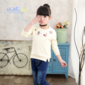 Sweatshirts for Girls 2017 Spring New Children Korean Style Cartoon Long - Sleeved Baby Cotton Primer Sweatshirts on Girl