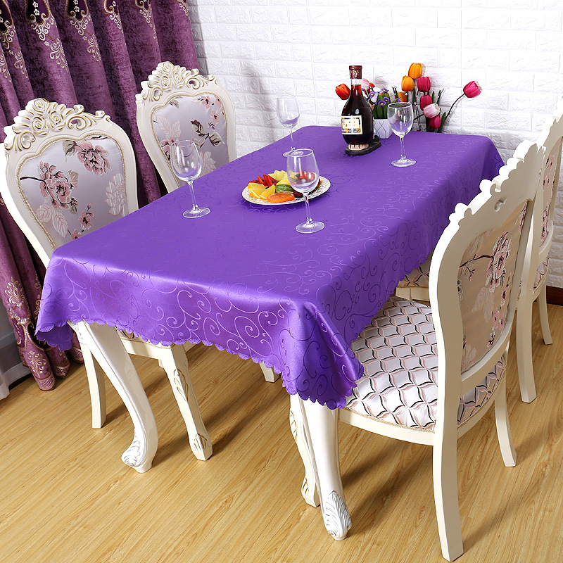 High Quality Fabric Rectangular And Round Table Cloth Machine Washable  Tablecloth Home Hotel Banquet Party Decoration In Tablecloths From Home U0026  Garden On ...