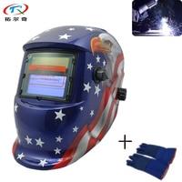 Free Shipping Welding Helmet Weding Machine Part Soldering Mask Weld Cap Automatic Filter Lens Weld Glove TRQ HD71 2200DE