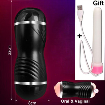Dual Channel Male Masturbator With Free Gift