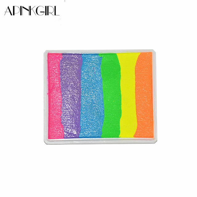 apinkgirl 50gset water based pro rainbow body paint color halloween neon face painting