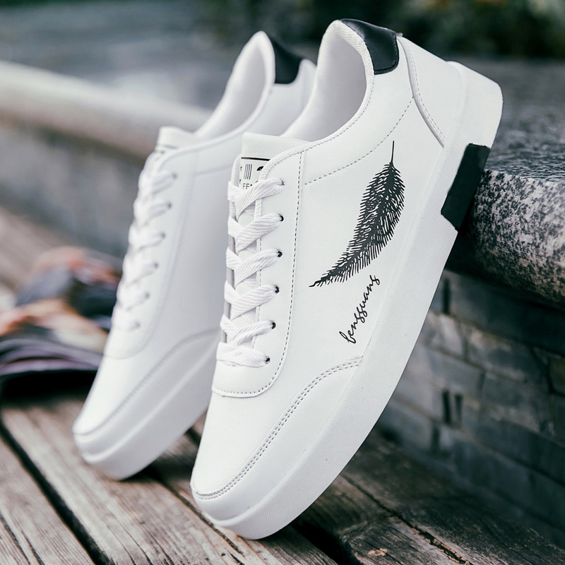 Mhysa 2019 New Spring Fashion Men's Casual Shoes White Sneakers Men's Shoes Outdoor Comfortable Breathable Flat Shoes L494