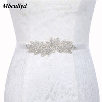 Crystal Wedding Belts Satin Rhinestone Ribbon Sashes 2019 Crystal Beaded Belts Women Bridal Long Belt For Dresses Party Belt