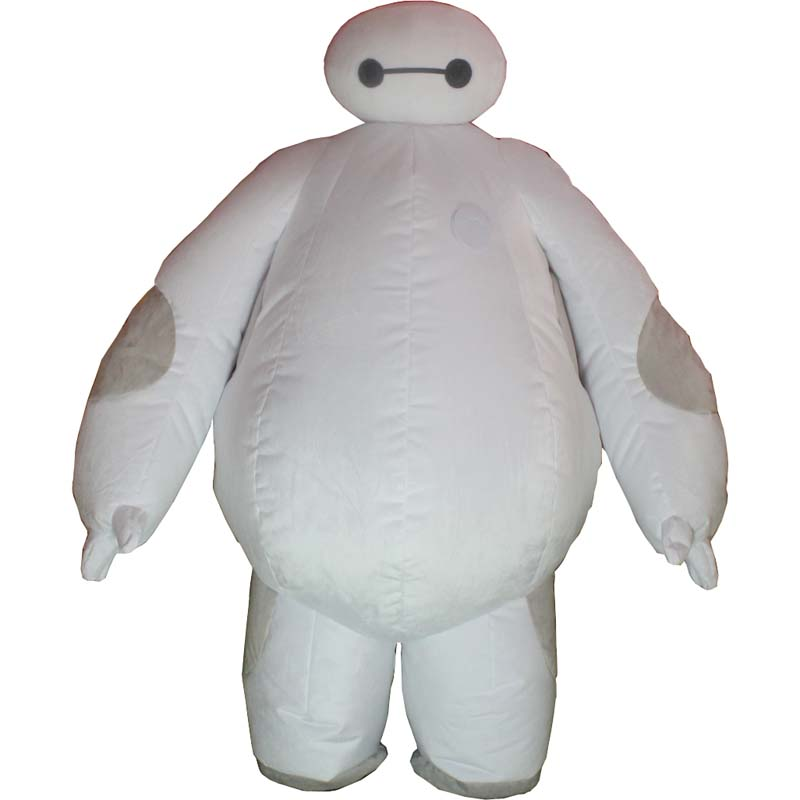 Inflatable Mascot Costumes Big Hero 6 Baymax Party Cosplay Costume For Men Adult Inflatable Clothing Baymax Mascot Cosume