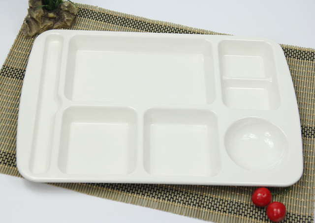 white plastic melamine Chinese fast food tray plate lunch box dinner plate sushi fruit fish dish : plastic fish plates - pezcame.com