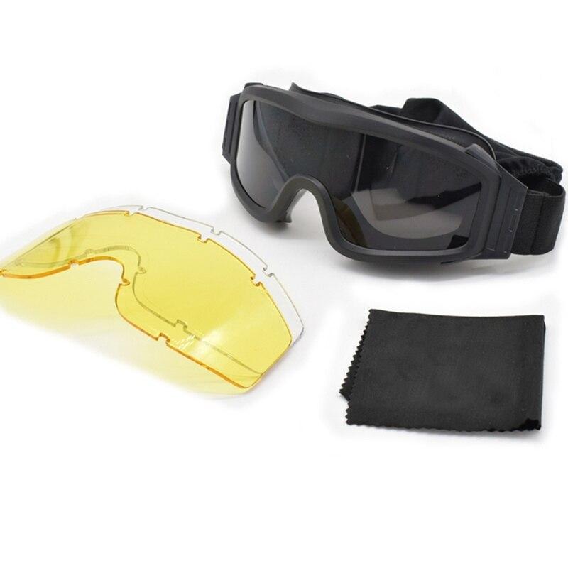 c3fe417e6 Melhor Airsoft Tactical Goggles Óculos Óculos de Sol Óculos de Desporto Ao  Ar Livre Tático militar Do Exército Paintball Airsoft Tactical Óculos de ...