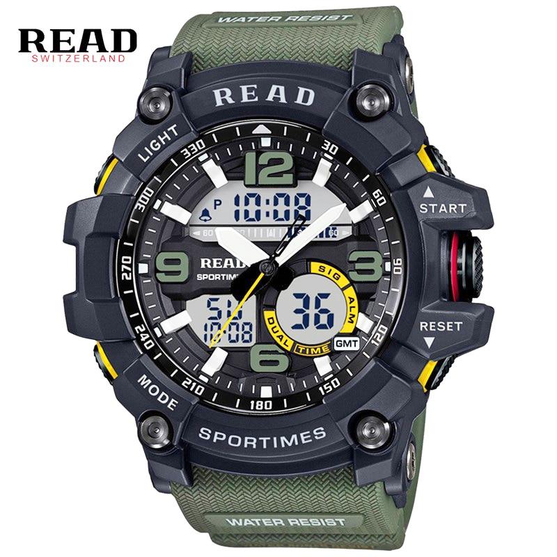 Nové digitální hodinky pro muže vojenské armády sportovní - Pánské hodinky