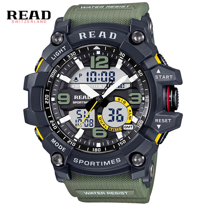 New Digital Watch Men Military Army Sport Watch Water Resistant Date Calendar LED Electronics Watches relogio