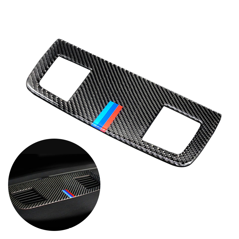 For BMW 3 Series E90 E92 E93 2005   2010 2011 2012 Carbon Fiber Car Interior Dashboard Air Conditioning Air Outlet Vent Cover