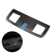 For BMW 3 Series E90 E92 E93 2005 - 2010 2011 2012 Carbon Fiber Car Interior Dashboard Air Conditioning Air Outlet Vent Cover цены