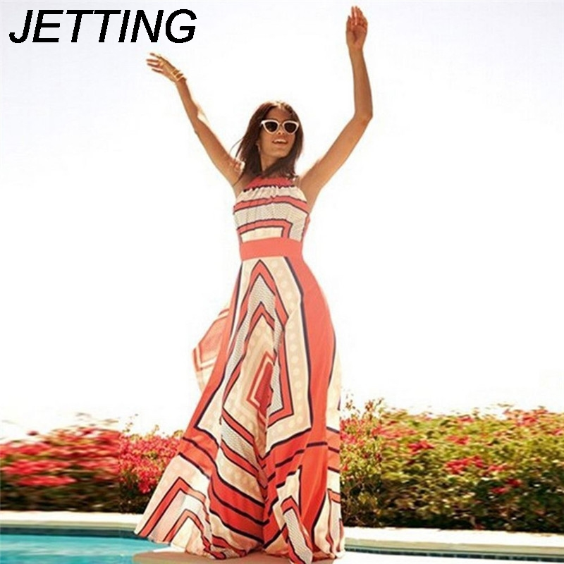 <font><b>women</b></font> Maxi <font><b>Dress</b></font> Zebra <font><b>Stripes</b></font> Halter Chiffon Long <font><b>Dress</b></font> <font><b>Sexy</b></font> <font><b>Casual</b></font> <font><b>Sleeveless</b></font> Split <font><b>Beach</b></font> <font><b>Women</b></font> Summer <font><b>Dress</b></font> image