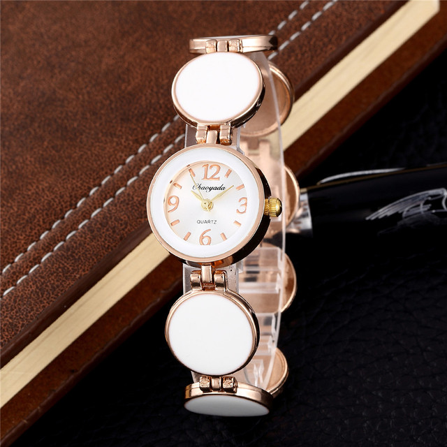 Quartz Watches Women Dress Wristwatch Fashion Silver Bracelet Watch Clock hodink