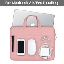Новая водонепроницаемая сумка для ноутбука Macbook Чехол Air 13 Pro 13 retina сумка для женщин и мужчин одноцветная 12 13,3 15,6 дюймов Mac Book Air 13 Чехол