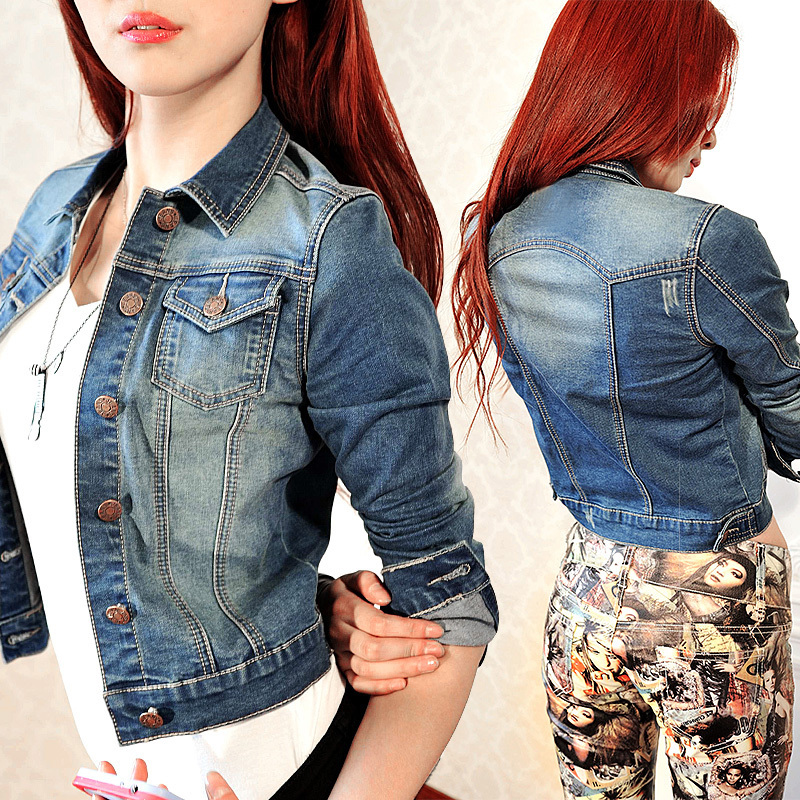 Aliexpress.com : Buy ew Hot Fashion jeans jacket Women Ladies Jean ...