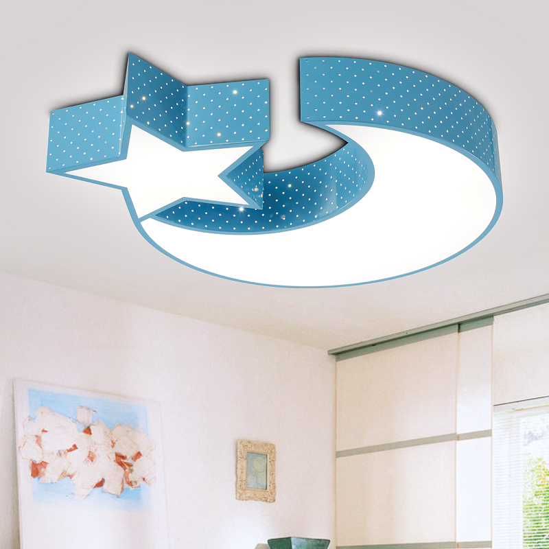 Creative Star Half Moon Led Ceiling Light Child Baby Room Lights Lamps Bedroom Decoration Ferr Shipping In From