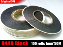 Wholesale 100 rolls 1mm 50m 3m 9448ab black double sided acrylic adhesive tissue tape for iphone.jpg 250x250