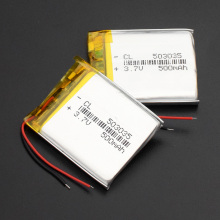 1/2/4Pcs 503035 3.7v 500mah lithium polymer battery 3 7V volt li po ion lipo rechargeable batteries for dvd GPS navigation