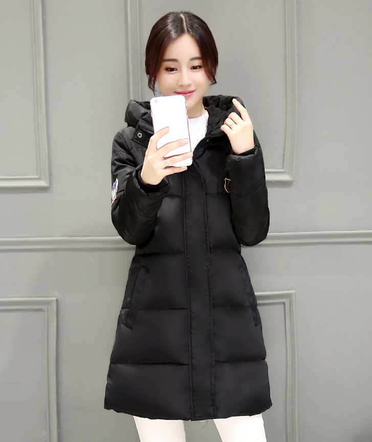 2017 Down Parkas Winter Jacket Women Cotton Padded Thick Ultra Light Long Coat Faux Fur Collar
