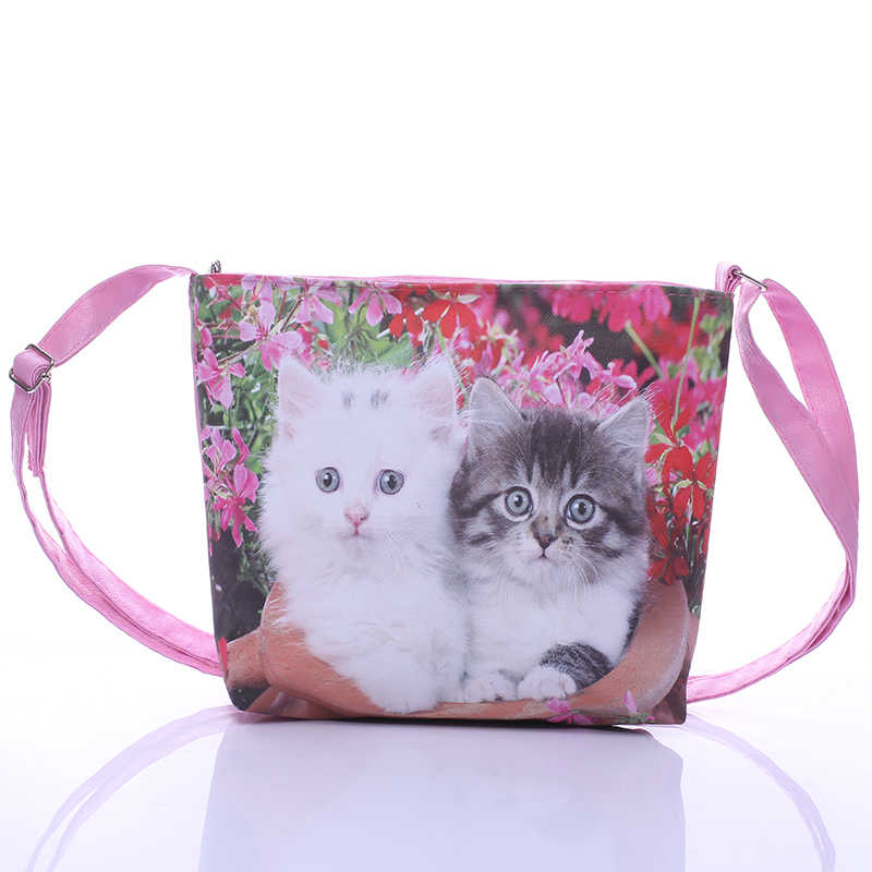 4459a276104a Cartoon Cute Cat Printed Children Bags Girls Mini Bags Satchel Shoulder Bags  For Kids Schoolbag Handbag