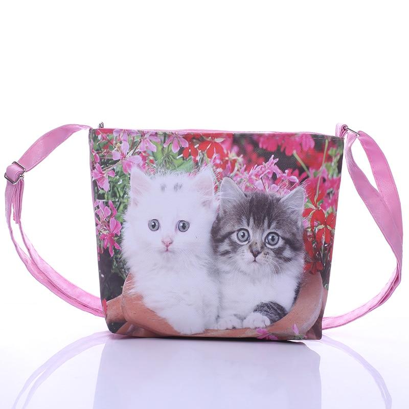 Gepäck & Taschen Intelligent Mädchen Schulter Tasche Pu Leder Zipper Nette Katze Bogen Handtasche Kinder Casual Messenger Taschen Neue