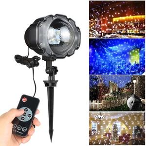 Image 4 - Luces de Navidad proyector de Exteriores Proyector láser de jardín Mini lámpara Led proyector de nieve en movimiento para Navidad Fiesta de Año Nuevo DA