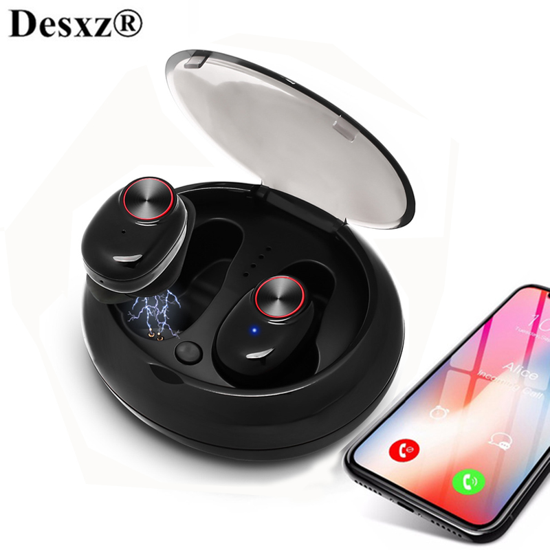 TWS Dual Earphone Bluetooth 5.0 Headset Wireless Earbud with Handsfree Stereo Music QI-Enabled With Charging Box TWS tws 5 0 bluetooth earphone touch control stereo music in ear type ipx6 waterproof wireless earbuds with charging box yz209