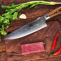 FINDKING couteaux de cuisine 2019 meilleure lame en acier damas manche en bois 8 pouces couteau damas couteau chef 67 couches damas