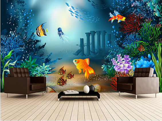Aliexpresscom Buy Custom children39s wallpaperUnderwater World3D