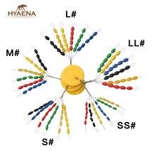 Hyanea 210 stks/partij Ovale Vissen Ruimte Bonen Vislijn Stoper Float Rubber Float Stopt Stopper Visgerei Accessoires