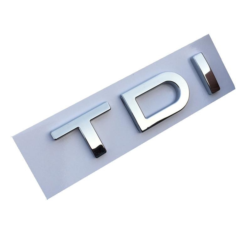 50pcs / lot emblème ABS TDI Chrome Badge