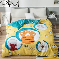 Papa&Mima Cute cat scratching print Modern style Duvet Cover Comforter Quilt case 100% cotton queen full twin Custom size