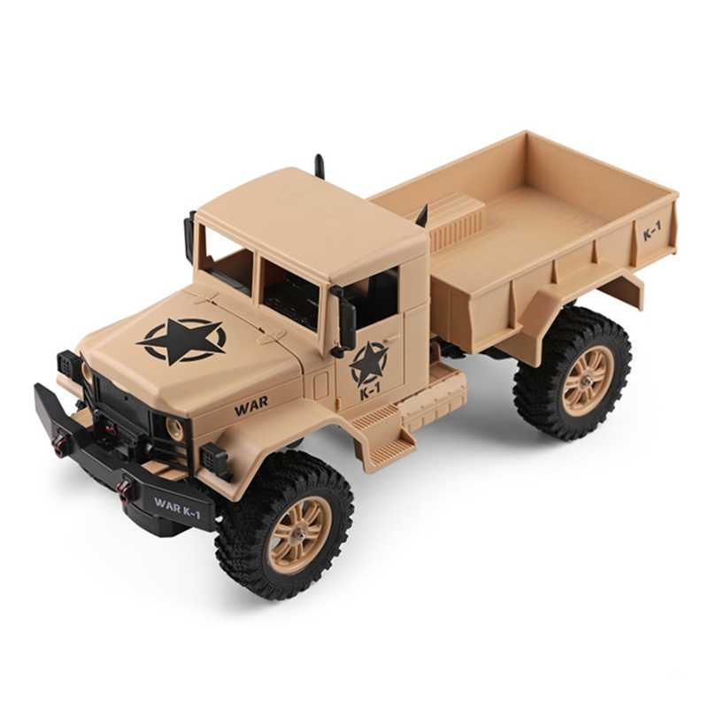 Mini Electric Four-Wheel 1/12 RC Military Truck For Fun Flexible Steering Without Batteries Of Remote Controller Toy
