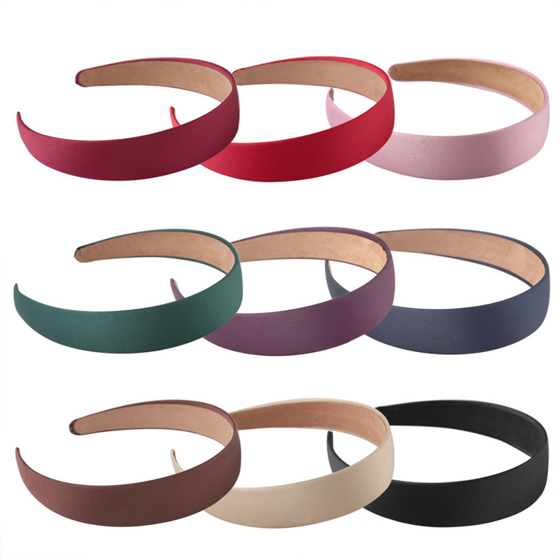 XDOMI Women Wide Headband Fashion Canvas Hair Band   Headwear   Hairbands Boutique Hair Hoops For Girl Satin Alice Hair Accessories