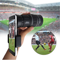 16x52 Zoom Mobile Phone Lenses Universal Phone Telescope Clip Lens Camera Lens Monocular Telescope for iPhone Samsung