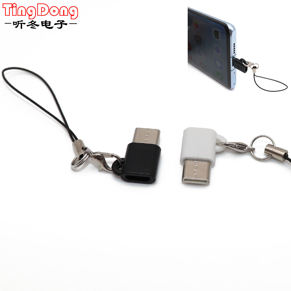 TingDong Micro USB Female To Type C Male Adapter For Letv For Xiaomi Mi 5X For Oneplus For Samsung S8 Plus