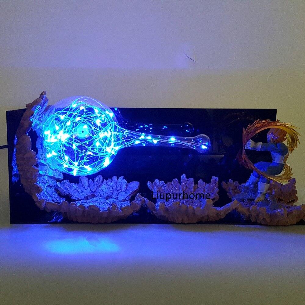Image 3 - Dragon Ball Z Vegeta Led Kamehameha Lighting Lamp Bulb Dragon Ball Super Vegeta DBZ Table Lamp Led Night Lights Home Decor-in LED Night Lights from Lights & Lighting