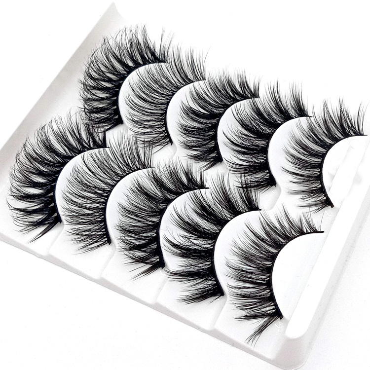 HBZGTLAD Mix 5pairs Natural False Eyelashes Fake Lashes Long Makeup 3d Mink Lashes Eyelash Extension Mink Eyelashes For Beauty