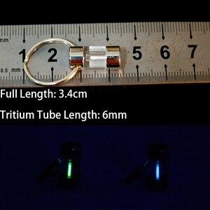 Image 5 - Tritium Lamp Keychain Key Ring Survival Tool Luminous Tritium Gas Lamp Lifesaving Emergency Lights Automatic Light