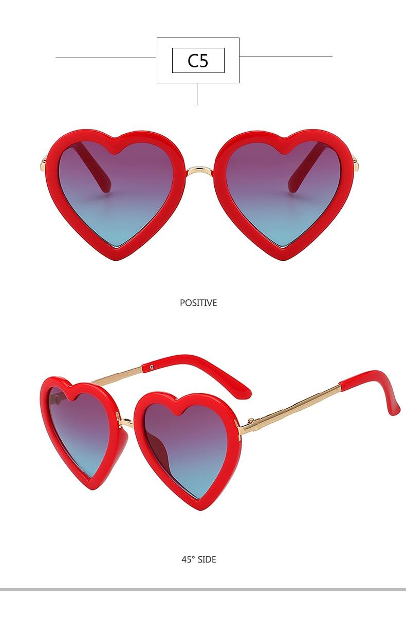 HTB16uX9etLO8KJjSZPcq6yV0FXaQ - Children Kids Sunglasses Fashion Heart Shaped Cute UV400 Designer Frame Eyewear Baby Girls Sunglasses Sun Glasses