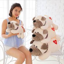 цена на Cartoon Dog Pillow Lying LOVE Dog Doll  Plush Toy Stuffed Animal For Kids Children Birthday Gift