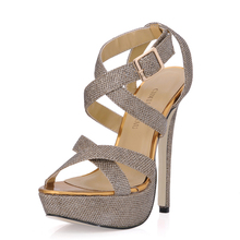 2016 New Sexy Party Shoes Women Stiletto High Heels Ladies Sandals Zapatos Mujer 3463SL-A4