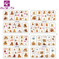 BOP180-183Teddy Bear nail stickers lovely toy  design nail sticker tool for decoration nails art stickers water transfer