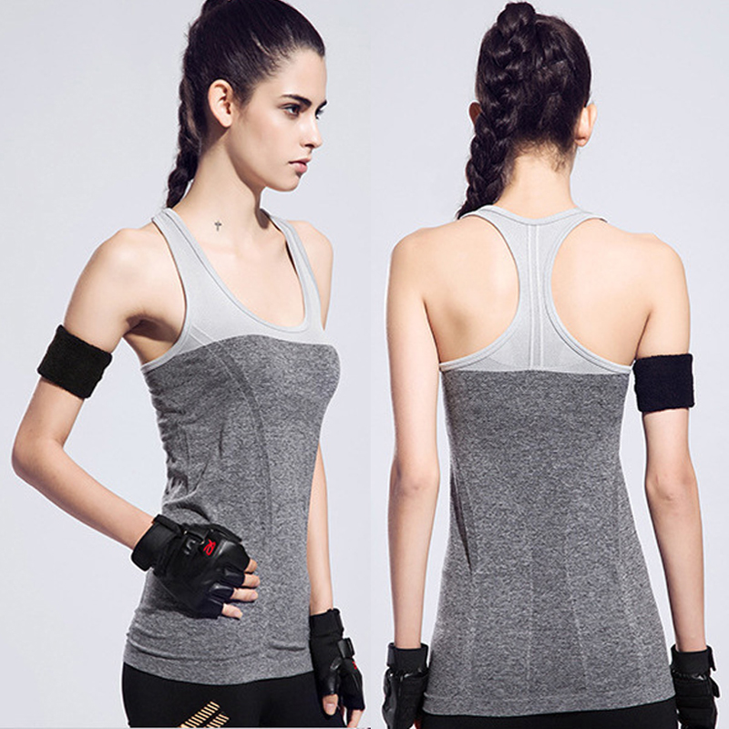 2018 New Arrival Women Yoga Shirts 5 Colours Elastic Breathable Quick Dry Gym Fitness Vest Yoga Tank Top Running Vest Yoga Vest