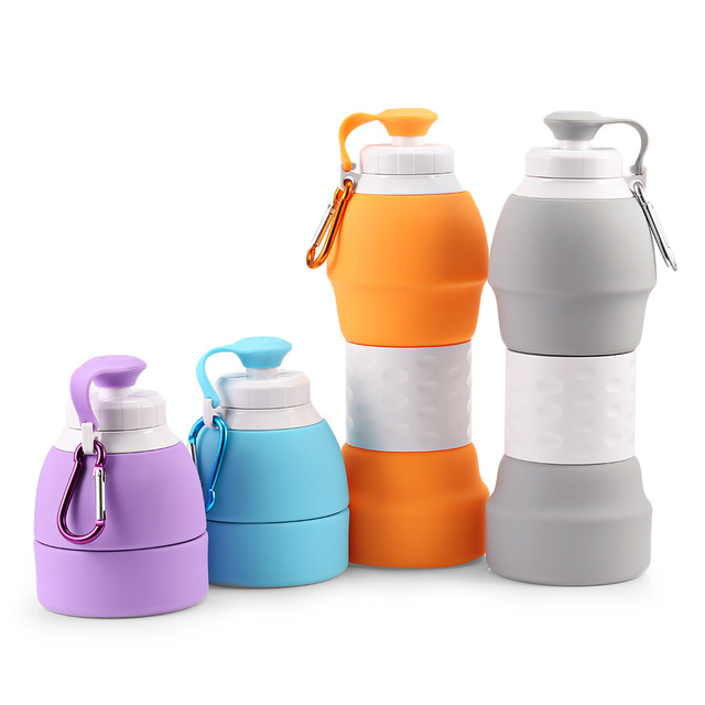 074b789379 580ML Portable BPA Free Silicone Water Bottle Folding Coffee Teacup Outdoor  Travel Drinking Collapsible Sport Drink Bottle