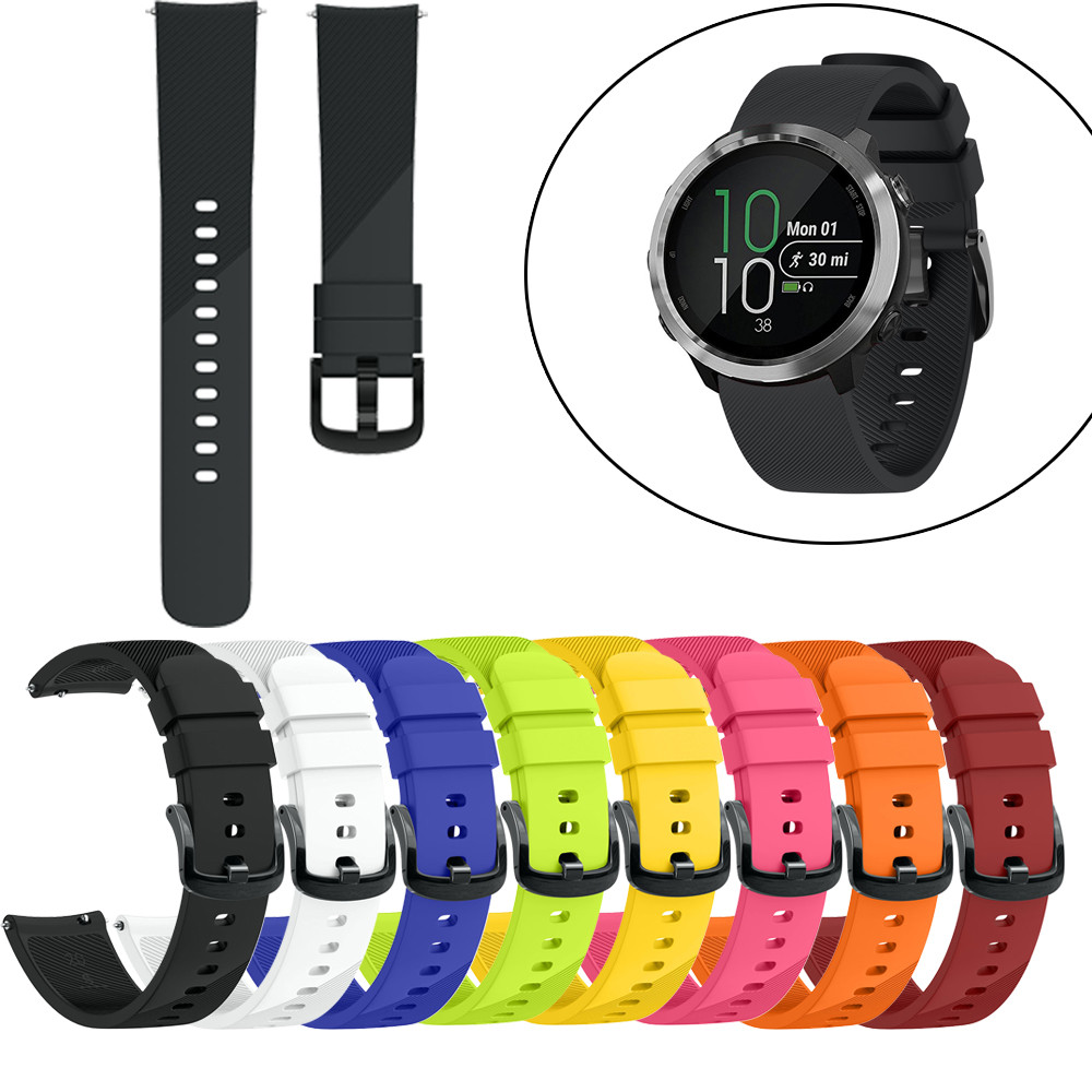 Silicone Bracelet For Garmin Vivoactive3 Forerunner 645 Soft Silicone Replacement Sport Wirst Band Watchband Strap