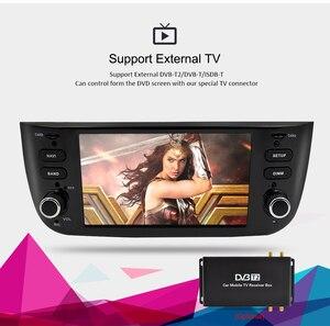 Image 5 - Android 9,0 Octa Core coche estéreo reproductor Multimedia para Fiat Grande Punto Linea 2012 2017 Auto Radio de Audio FM WIFI GPS de navegación