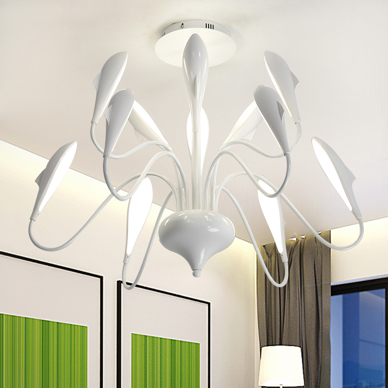 Swan led chandelier for Living room Bedroom KItchen lustre led luminaria Suspendsion Lighting modern ceiling chandelier цена
